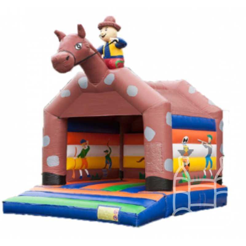 Springkussen Paard met Ruiter 6x5 huren